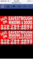 Seamless eavestroughs, roofing Reno's windows