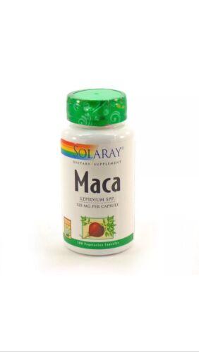 Solaray Organically Grown Maca Root Supplement, 500 mg, 100