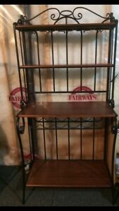 Wine Rack & Glass Holder Console Table