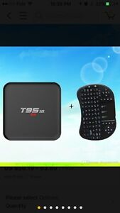 T95M Android 5.1 OS TV Box 1GB 8GB + Rii air mouse keyboard