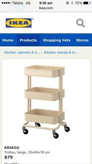 Raskog IKEA trolley in beige / for kitchen or bathroom or art supplies South Brisbane Brisbane South West Preview