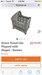 GRACO TRAVEL LITE PLAYYARD WITH STAGES