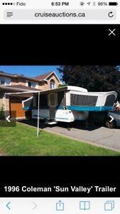 Coleman tent trailer for sale