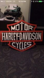 Steel Harley sign