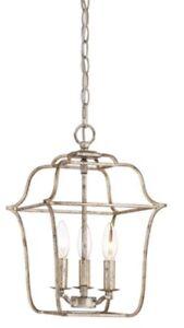 New Quoizel Gallery 3-Light Cage Lantern Pendant Chandelier