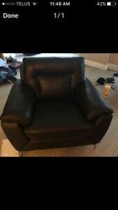 Leather couch & chair $1,500 OBO