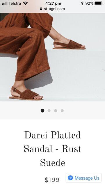 3b06fc5a30c Plaited rust suede St Agni sandal