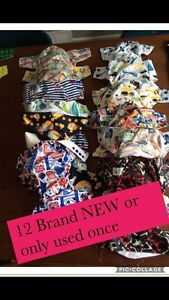 NEW or Only Used Once Cloth Diapers