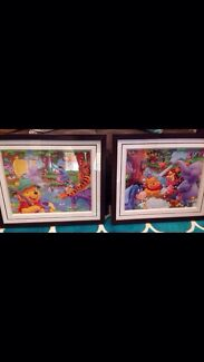 Two Framed Winnie the Pooh pictures Redcliffe Belmont Area Preview