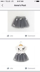 Brand New 2T outfit.  Tutu and tshirt
