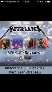 Ticket Metallica Montreal July 19