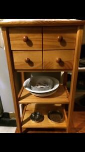 Small Wooden butcher block kitchen table $40obo