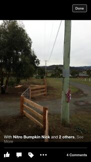 Split posts and rail fencing