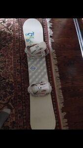 Atomic snowboard and Solomon bindings