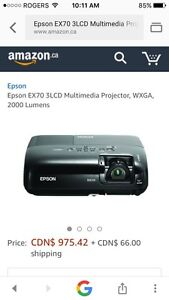 """EBSON EX70 HD Home theatre projector with 100"""" screen $900"""