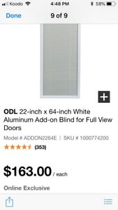 Add on blinds for French door