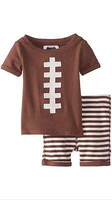 Boys 9-12 Months Mud Pie Football 2pc Lounge Set Pajamas NEW NWT 100% Cotton