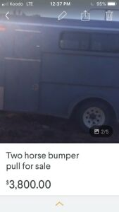 Two horse trailor