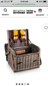 Gorgeous Gift Picnic Wine & Cheese Basket Set by Kabrio