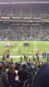 Seahawks vs Philadelphia Eagles lower bowl aisle seats