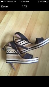 Geox sandals wedges size 8
