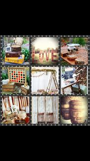 Rustic Vintage Props, Decor & Lawn Games Hire. All you see for $500!  Camden Camden Area Preview