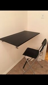Table bar murale Norberg et chaise  Franklin Ikea