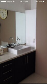 Entire Bathroom Vanity Joinery inc stone benchtop 2x basins, 2x taps