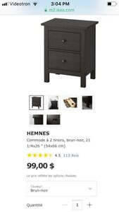 2 Commodes / tables de chevet IKEA