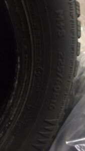 Almost New  4 winter tires 225/60R16