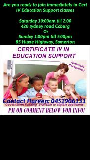 Cert IV in Education Support