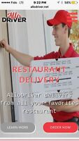 Delivery drivers in west island only