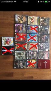 Lot de jeux de Gamecube