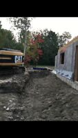 Land clearing, excavation, field bed, driveways,