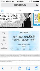 Justin Bieber- 2x Tickets ANZ Stadium Sydney City Inner Sydney Preview