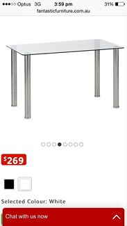 Glass top dining table. New still in box Burwood Heights Burwood Area Preview