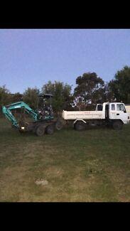 Excavator & tip truck hire