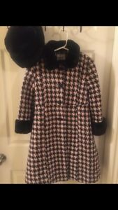 Girls Rothschild long coat and hat size 6