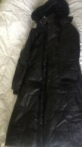 Beautiful size LG Danier down filled real leather winter coat