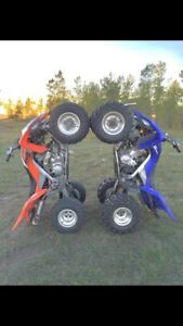 Dirtbikes and Racing quads.