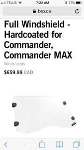 Can Am Commander/Maverick windshields/roof Defender fender