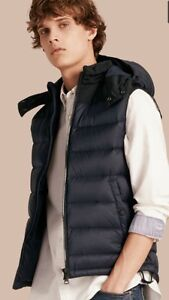 Burberry men's small puffer vest with hood Windsor Region Ontario image 1