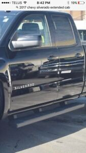 Step bars off 2017 Chevy Silverado extended cab