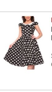 Black dress with white dots