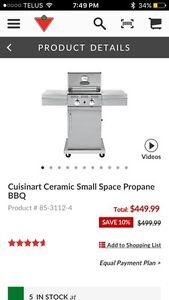 Cuisinart Ceramic Small Space Propane BBQ