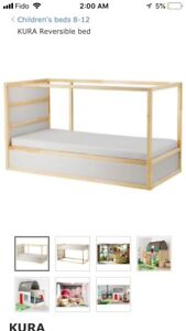 Ikea kids bed for 50$.Ikea karlstad sofa for 120$