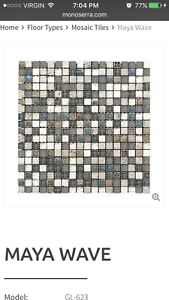 Discontinued mosaic tile.