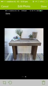 Rustic hall table Elanora Heights Pittwater Area Preview
