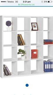 16 cube one piece bookshelf