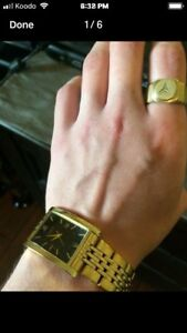 Citizen gold watch with Mercedes Benz ring